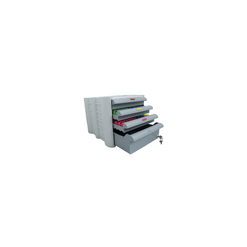 Pilulier Anabox 4S 3 petits tiroirs et 1 grand tiroir