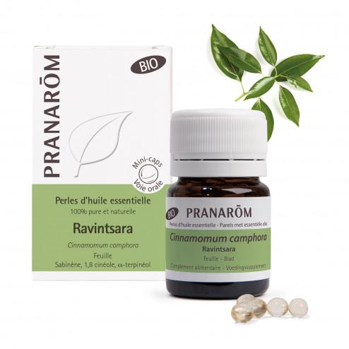 Perles d'huile essentielle Ravintsara Bio