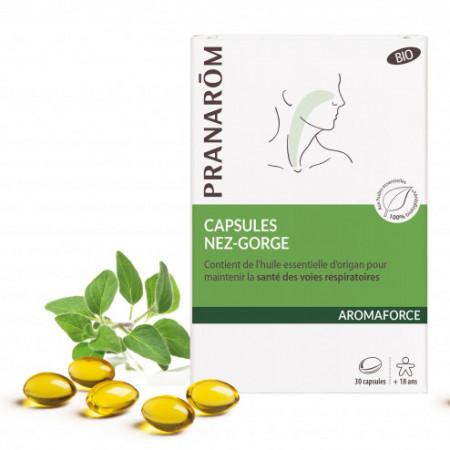 Aromaforce Capsules Nez Gorge bio