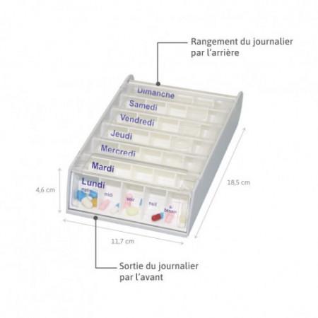 Pilulier Anabox hebdomadaire blanc