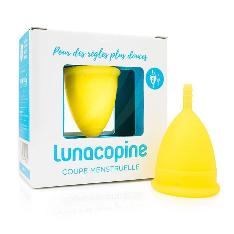 Lunacopine cup menstruelle jaune grande taille