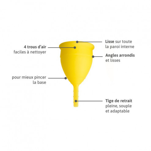 Lunacopine jaune boîte taille 2
