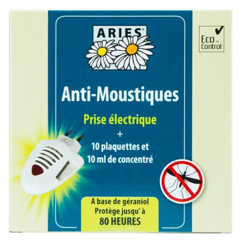 Prise électrique anti moustiques et 10 recharges