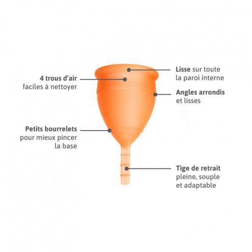 Lunacopine orange boîte taille 2