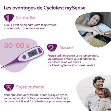 Avantages du cyclotest mySense