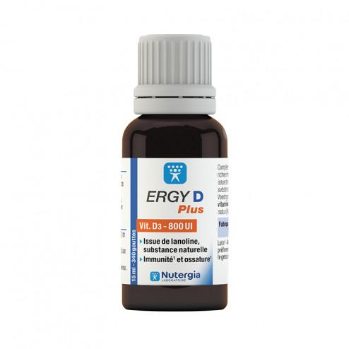 Ergy D Plus - complément alimentaire Nutergia (vitamine D)