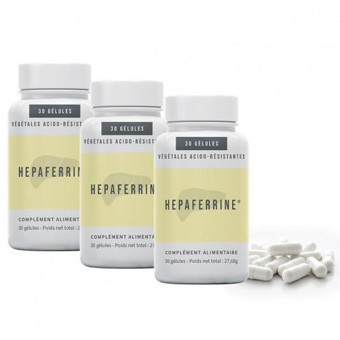 Lot de 3 boites complément alimentaire Hepaferrine à base de desmodium