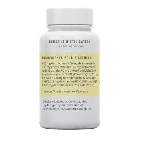 Ingrédients Hepaferrine : lactoferrine, desmodium, silymarine