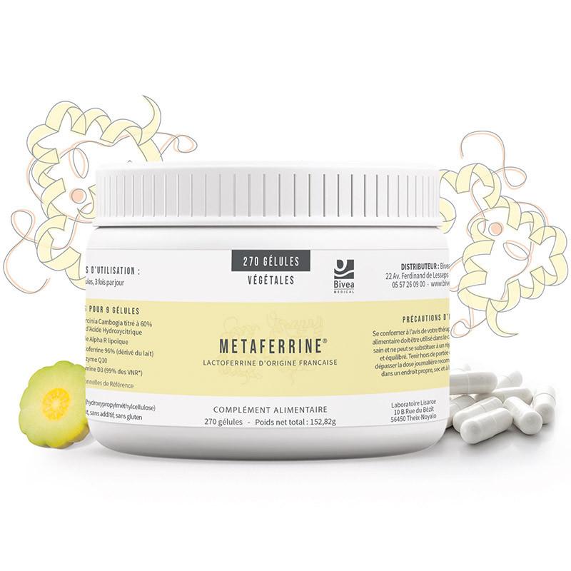 Metaferrine complément alimentaire de Bivea Médical à base de lactoferrine
